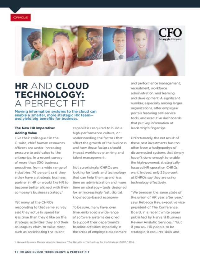HR and Cloud - Smarter Strategic HR